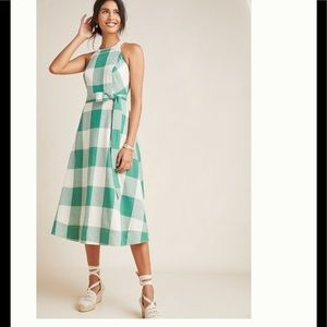 NWT Anthropologie Greta gingham dress